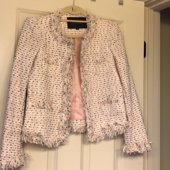 7a05aa7e338a Storets Chanel Inspired Pink and Blue Tweed Blazer.  M_5ac1414331a376f091715903